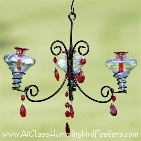Chandelier Hummingbird Feeder Chandelier Style Hummingbird Feeder Gardening Pinterest