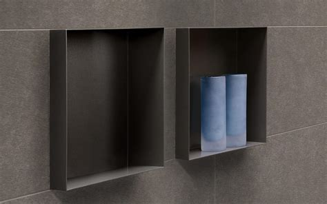 badezimmer nische wall niches container box series space saving solutions