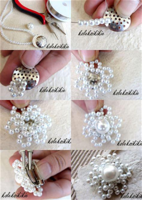 membuat gelang bunga 10 menit membuat bros bunga putih koleksikikie