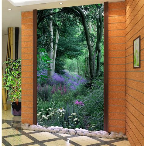 dekorasi rumah  kamar mandi wallpaper vas pintu  masuk