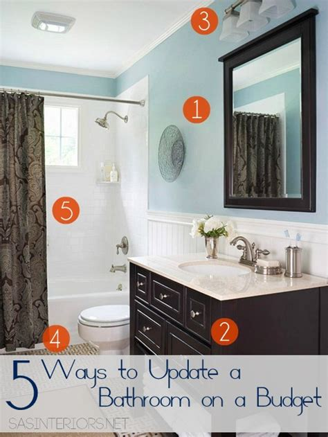 bathroom upgrade ideas 5 ways to update a bathroom on a budget burger