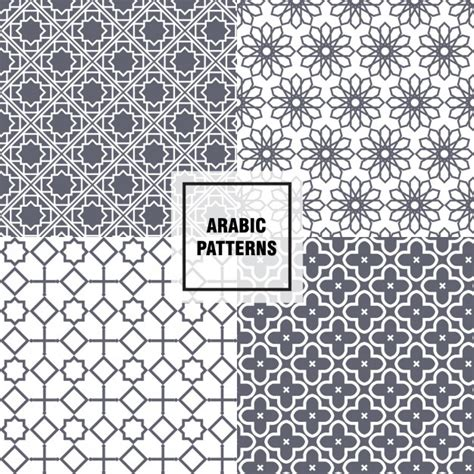 arabic pattern ai grey arabic patterns vector free download