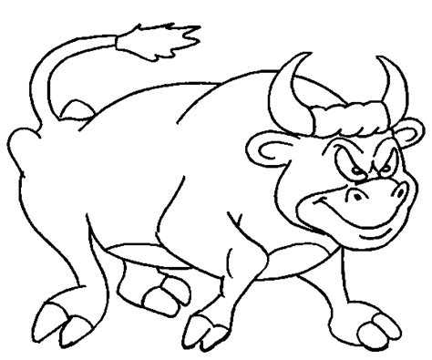 Bull Coloring Pages Coloringpages1001 Com Bull Coloring Page