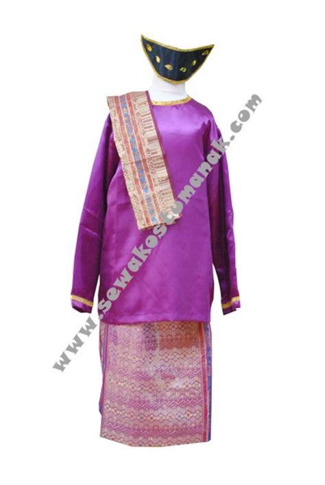 Sho Kuda Warna Ungu pakaian adat batak baju adat batak kostum batak sewa