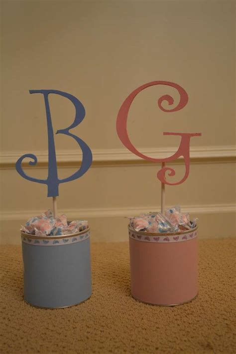 pink blue baby feet gender reveal party ideas photo