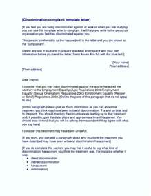 letter of harassment complaint template harassment complaint letter template template update234