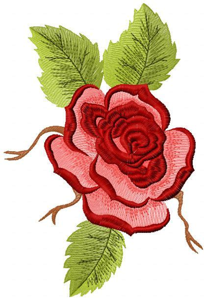 embroidery design rose flower red rose free machine embroidery design machine