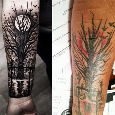 tree before moon tattoo fash circle
