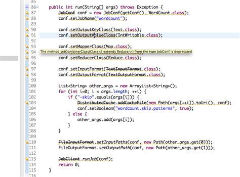 pattern java word java hadoop word count mapreduce tutorial deprecated