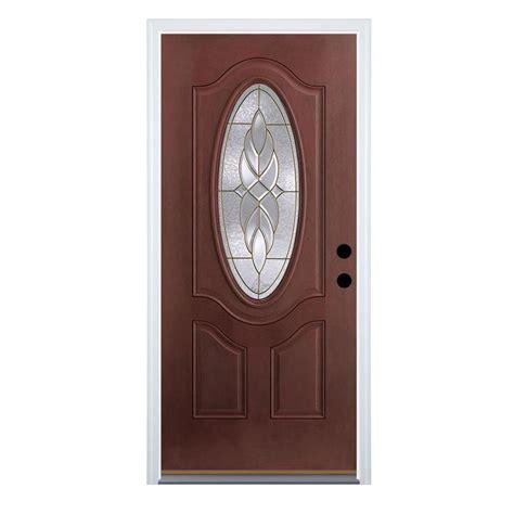 Therma Tru Fiberglass Doors by Shop Therma Tru Benchmark Doors Varissa 2 Panel Insulating