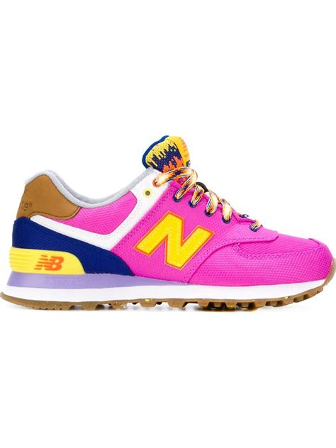 modern sneakers lyst new balance mountain 574 sneakers in pink