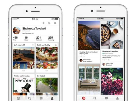 pinterest app layout the evolution of mobile app design usability geek