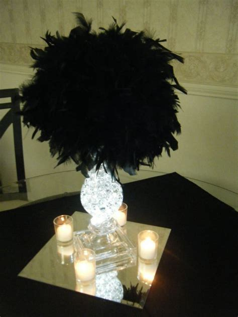 black feather centerpieces my centerpieces weddingbee photo gallery