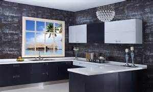 Gray Kitchen Interior Design Model New Home