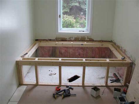 Framing For A Bathtub by