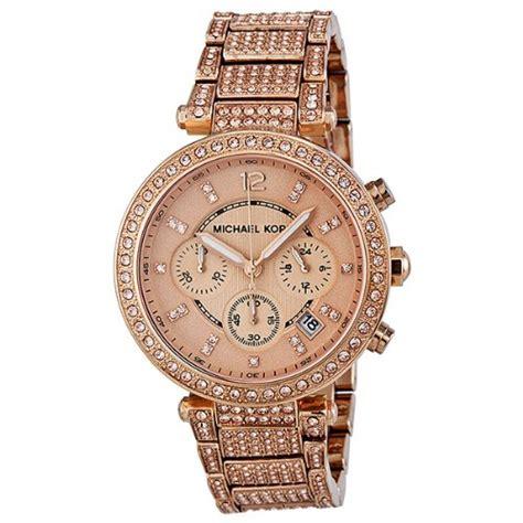 Glitz Smartwatch Michael Kors Uptown Glam Chronograph Gold Tone