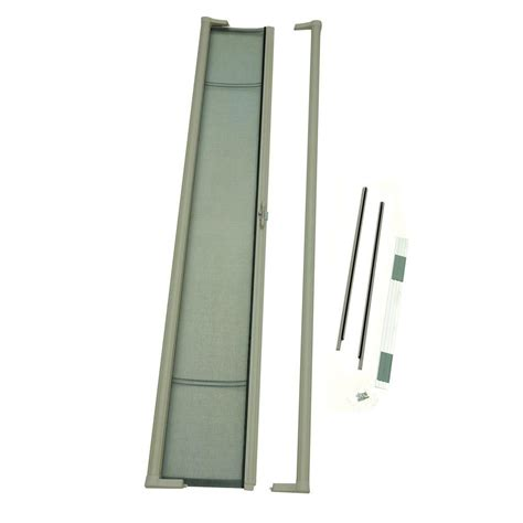odl brisa sandstone retractable screen door brtlae the home depot