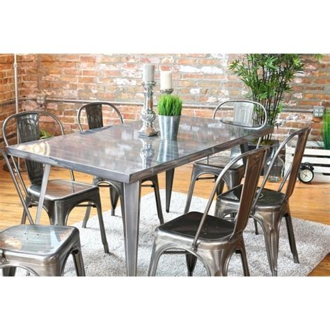 metal dining room furniture dining room tables austin austin industrial metal dining
