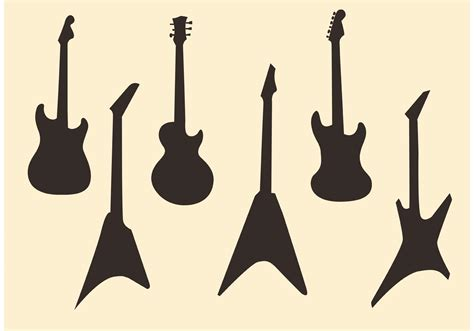 silhouette vector guitar vector silhouettes download free vector art