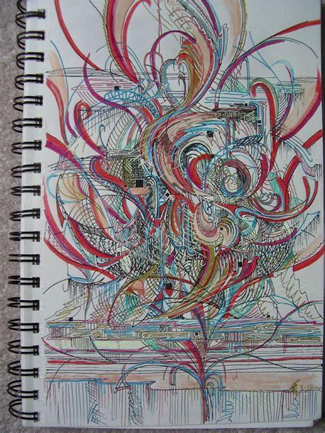 gel pen doodle sketchbook sized gel pen doodle flickr photo