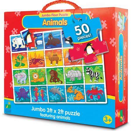 learning journey jumbo floor puzzle animals walmartcom