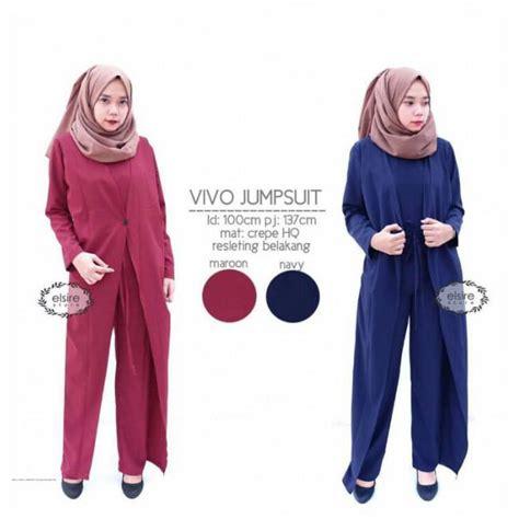 Jumpsuit Murah Jumpsuit Cape busana muslim jumpsuit baju gamis dan baju muslim model