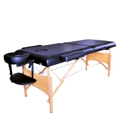 comfort craft massage table 2 quot pad 84 quot black portable massage table w free carry case