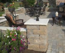 Patio Accent Lights Backyard Paver Patio With Accent Lighting Contemporary