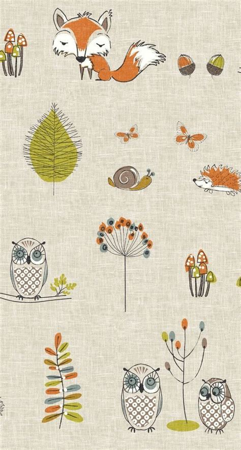 Owl Curtains For Nursery Woodland Fox And Owl Cotton Nursery Curtains For Childrens Ro