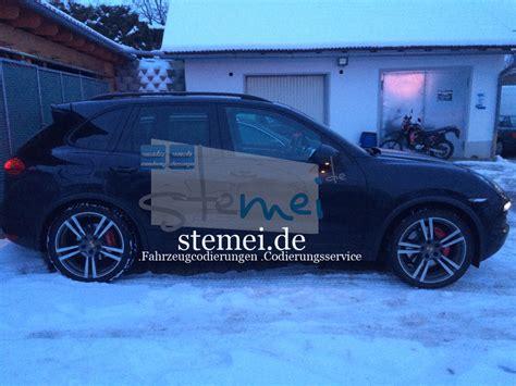 Porsche Cayenne Tieferlegen Luftfahrwerk by Stemei De Fahrzeugcodierungen Codierungsservice