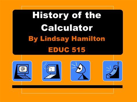 calculator history history of the calculator