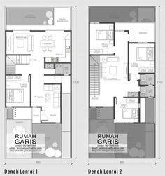 contoh denah rumah mewah  lantai places  visit pinterest house layouts house plans