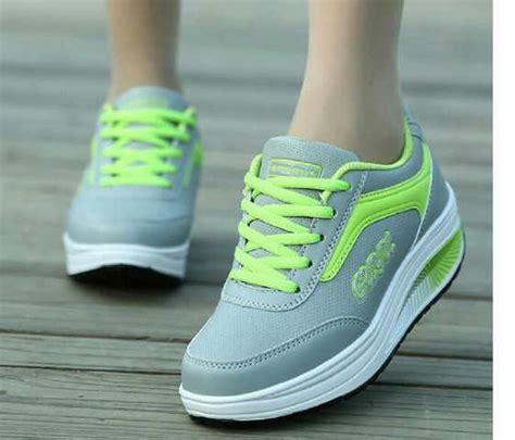 Sepatu Wanita Kets Biru jual dhpd133 sepatu ankle boots sneaker wedges kets wanita