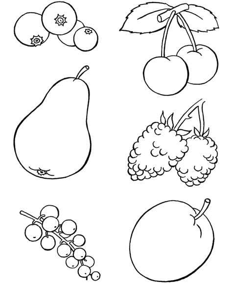 Fruit Coloring Pages For Preschoolers coloring pages of mix fruits for preschoolers