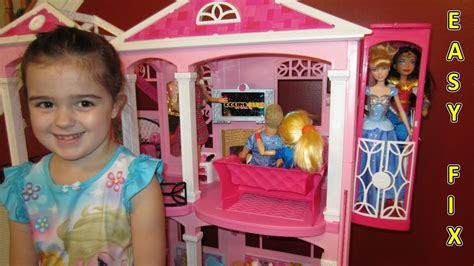 barbie dream house youtube barbie dream house 1 elevator fix easy youtube
