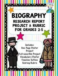 biography books for 7th graders 2nd grade biography project rubric 1000 images about