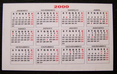 Calendario Ano 2000 Colecionismos Calend 225 Do Ano 2000