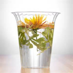 plastic vases for centerpieces clear large plastic flared cylinder vase smarty had a