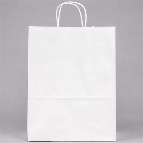 How To Make A Paper Shopping Bag - white paper shopping bag with handles 10 quot x 5 quot x 13 quot 250