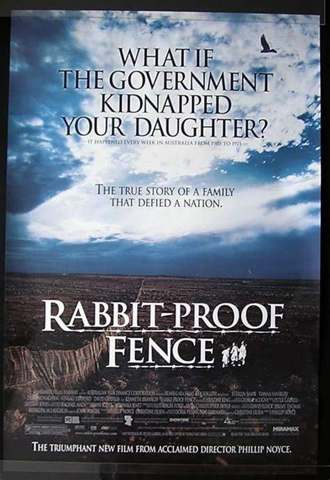 Rabbit Proof Fence 2002 Film Rabbit Proof Fence Movie Poster 2002 Phillip Noyce