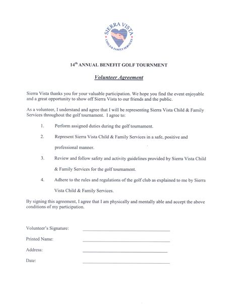 volunteer waiver template riskmanagement4volunteers sle volunteer agreement form