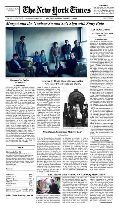 printable version of new york times new york times print layout clarinda dotson s portfolio