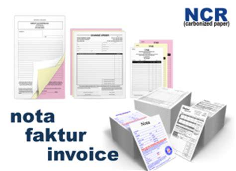 Printer Nota Rangkap tekno printing jasa cetak nota faktur invoice di bsd