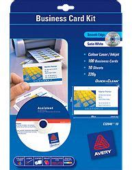 5882 Laser Clean Edge Business Card Template by Inkman Au Clean Smooth Edge 220gsm Business