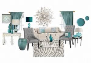 Modern mix of teal grey and white living room with mirrored