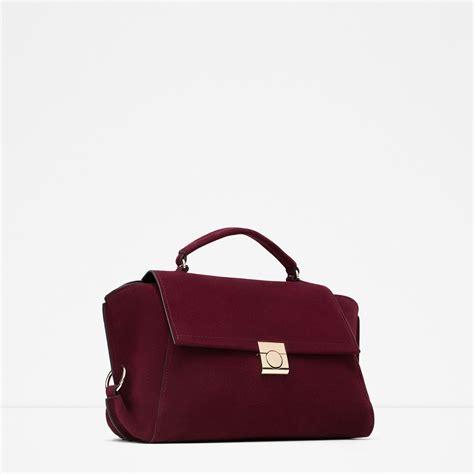 On Sale Tas Wanita Zara City Bag zara leather city bag leather city bag in burgundy