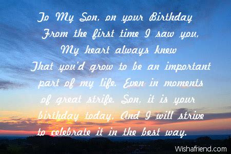 Happy Birthday Quotes For Sons by Happy Birthday To My In Heaven Quotes Quotesgram