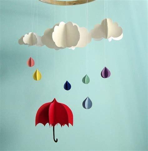 umbrella mobile pattern nubes de papel holamama blog