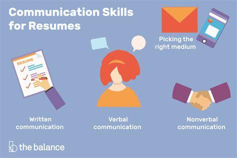 Communication Skills Resume by List Of Communication Skills For Resumes