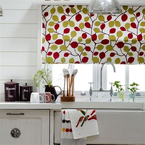 country kitchen blinds choose a bold kitchen blind dress and decorate country